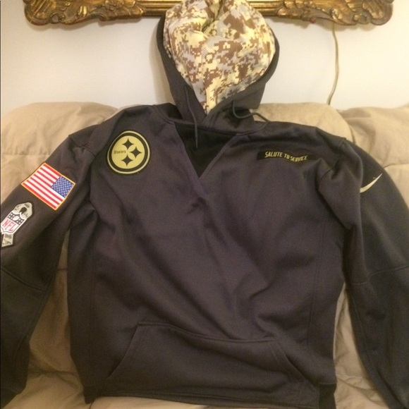 watch e197b 42925 steelers salute to service hoodie xl